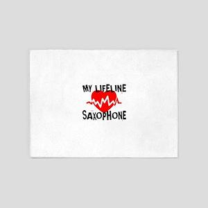 My Life Line saxophone Music 5'x7'Area Rug