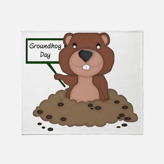 Unique Groundhog day Throw Blanket