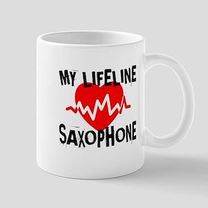My Life Line saxophone Music 11 oz Ceramic Mug