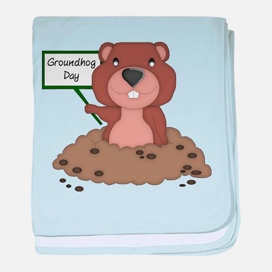 Groundhog Day baby blanket