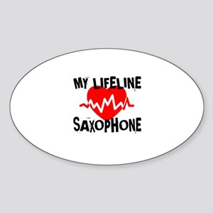 My Life Line saxophone Music Sticker (Oval)