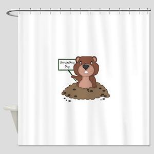 Groundhog Day Shower Curtain