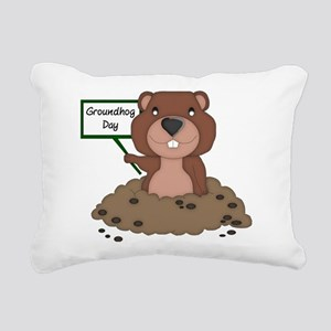 Groundhog Day Rectangular Canvas Pillow