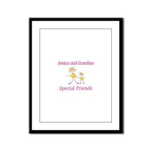 Jessica & Grandma - Friends Framed Panel Print