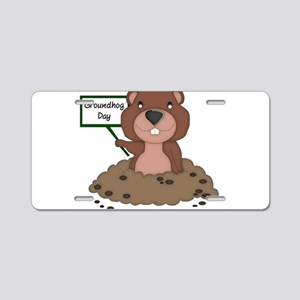 Groundhog Day Aluminum License Plate