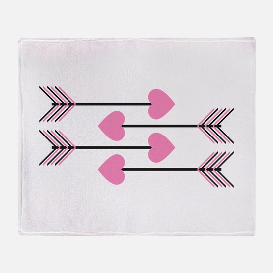 Valentines Arrows Throw Blanket