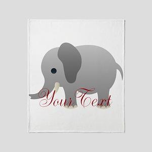 Elephant Personalize Throw Blanket
