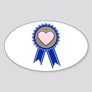 Love Blue Ribbon Sticker
