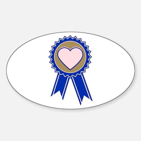 Love Blue Ribbon Decal