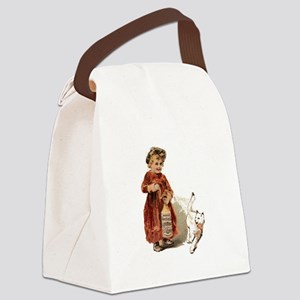 bad kitty funny Canvas Lunch Bag