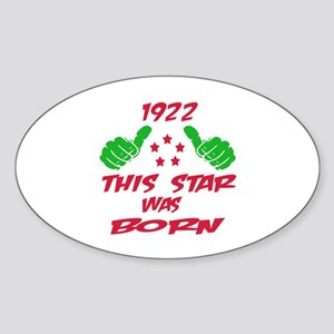 1922 This star was born Sticker (Oval)