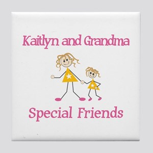 Kaitlyn & Grandma - Friends Tile Coaster
