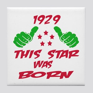 1929 This star was born Tile Coaster