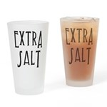 Extra Salt Word Mug Drinking Glass