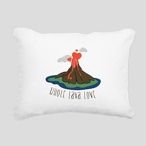 Whole Lava Love Rectangular Canvas Pillow