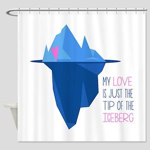 Tip Of Iceberg Shower Curtain