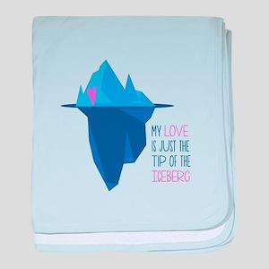 Tip Of Iceberg baby blanket