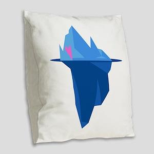 Love Iceberg Burlap Throw Pillow