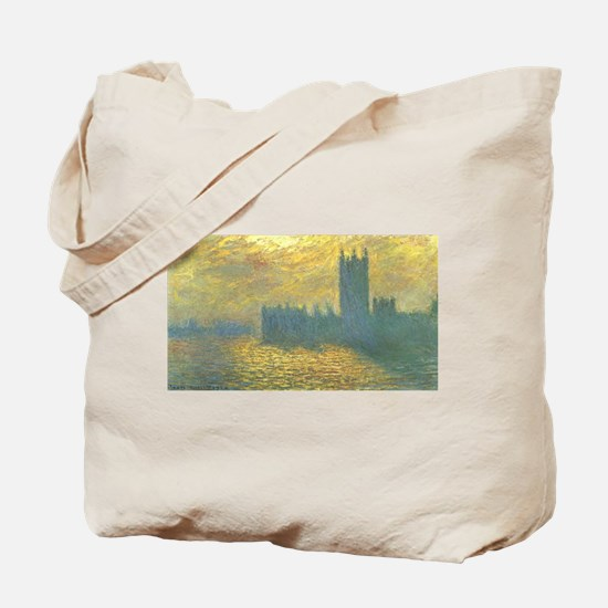 Claude Monet's Parlament in London's Stor Tote Bag