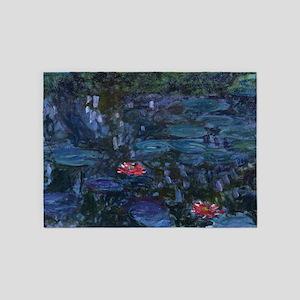 Claude Monet's Nympheas reflets de 5'x7'Area Rug