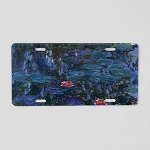 Claude Monet's Nympheas ref Aluminum License Plate