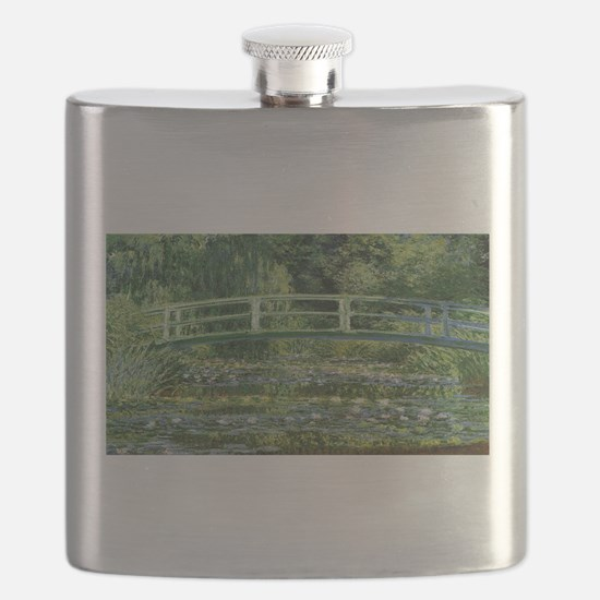 Claude Monet's Water Lilies and Japanese Bri Flask