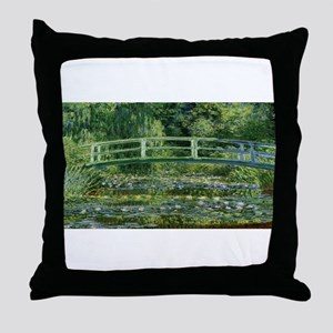 Claude Monet's Water Lilies and Japan Throw Pillow