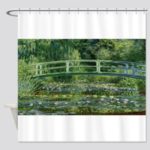 Claude Monet's Water Lilies and Jap Shower Curtain