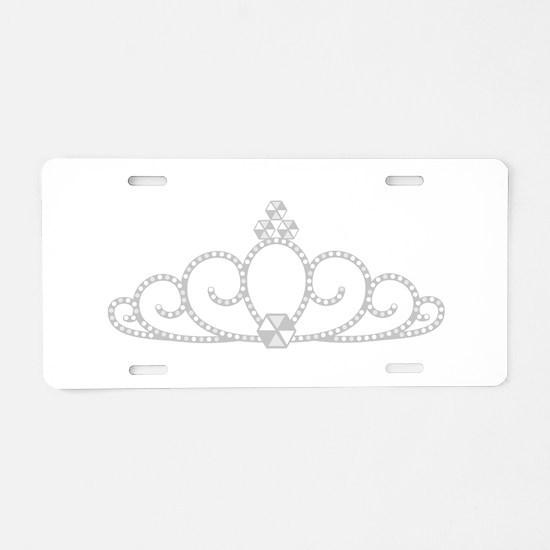 Princess Tiara Aluminum License Plate