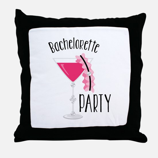 Bachelorette Party Throw Pillow