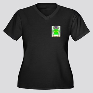 Owen Women's Plus Size V-Neck Dark T-Shirt