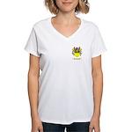 Ougan Women's V-Neck T-Shirt