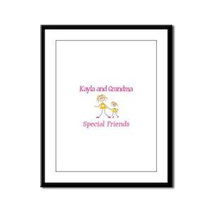 Kayla & Grandma - Friends Framed Panel Print