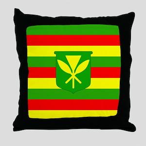 Kanaka Maoli Flag Throw Pillow