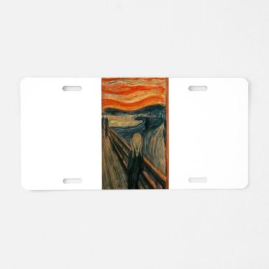 Edvard Munch's The Scream Aluminum License Plate
