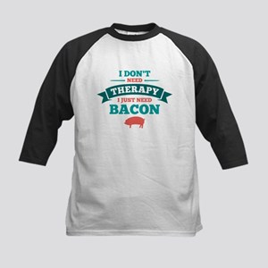 No Therapy Bacon Kids Baseball Jersey