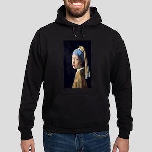 Johannes Vermeer's Girl with a Pearl Hoodie (dark)