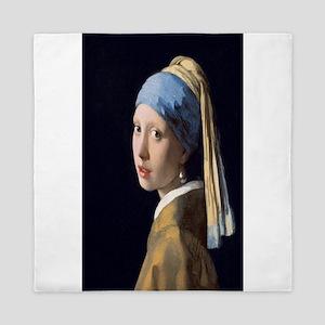 Johannes Vermeer's Girl with a Pearl E Queen Duvet