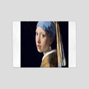 Johannes Vermeer's Girl with a Pear 5'x7'Area Rug