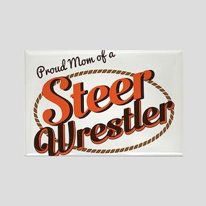 Proud Mom of a Steer Wrestler Magnets