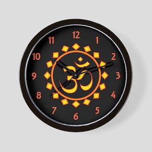 Fiery Om Wall Clock