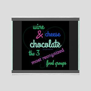 3 Best Food Groups Black Throw Blanket