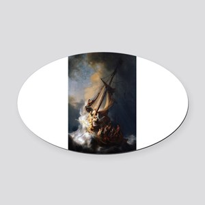 Rembrandt's The Night Watch Oval Car Magnet
