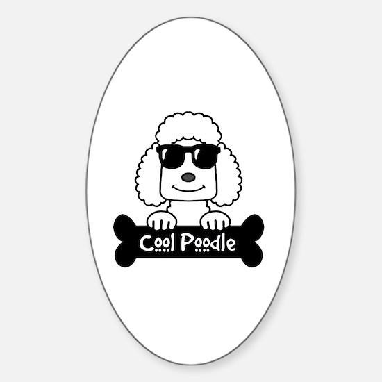 Teacup poodle Sticker (Oval)