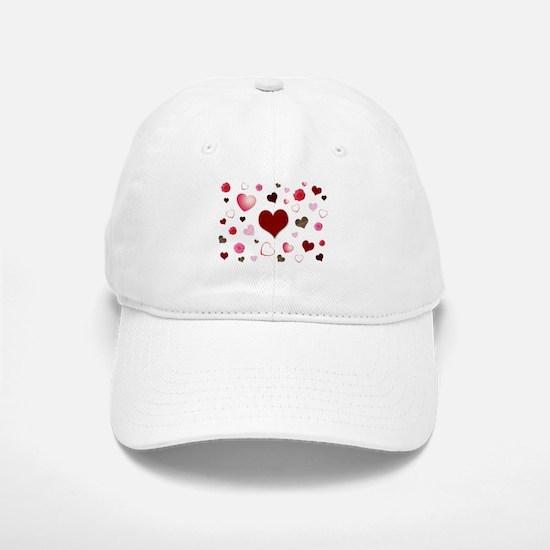 Hearts and Flowers Baseball Baseball Baseball Cap