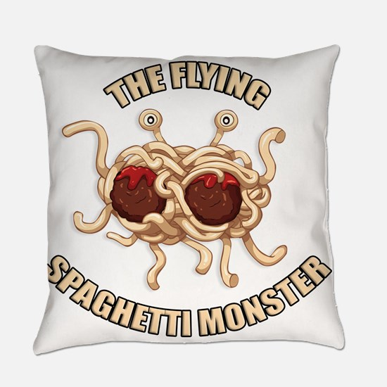 Flying Spaghetti Monster Everyday Pillow