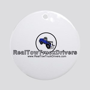 Tow Truck Driver Ornament (Round)