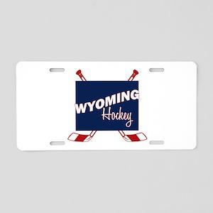 Wyoming Hockey Aluminum License Plate