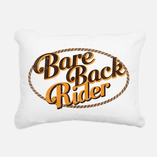 Bareback Rider Rectangular Canvas Pillow