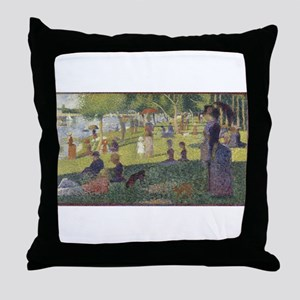 Georges Seurat's A Sunday Afternoon o Throw Pillow